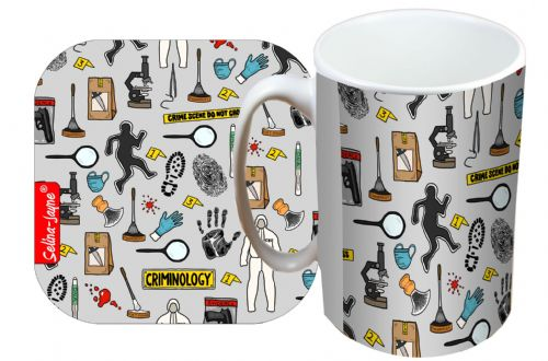 Selina-Jayne Criminologist Limited Edition Designer Mug and Coaster Set